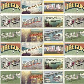 Retro Oregon Postcards