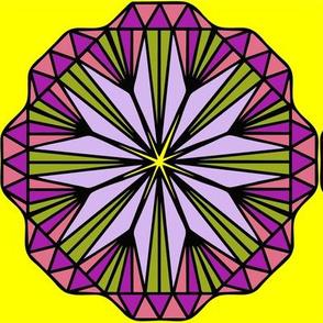 Diamond Flower Test Swatch Size