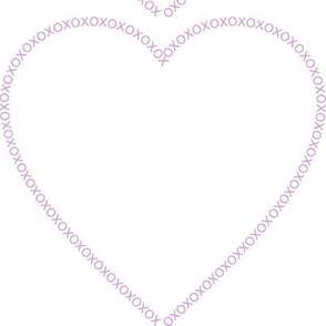 XOX Heart Frame Lavender Test Swatch Size