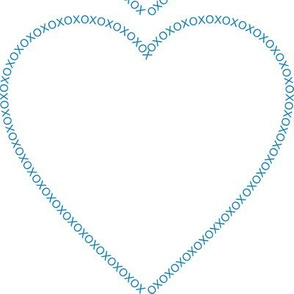 XOX Heart Frame Blue Test Swatch Size