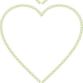 XOX Heart Frame Green Test Swatch