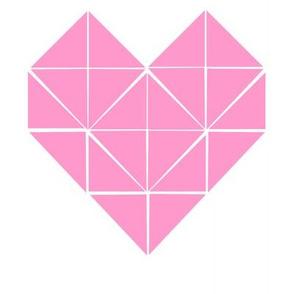 Geometric Heart in Pink Test Swatch