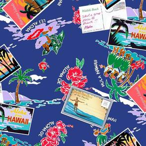 Aloha Oe Hawaii Postcards