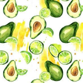 avocado and lime