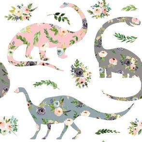 floral patchwork dinosaur