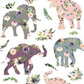 floral patchwork elephant