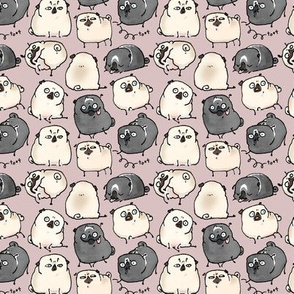 Pug Poses - Rose Gray