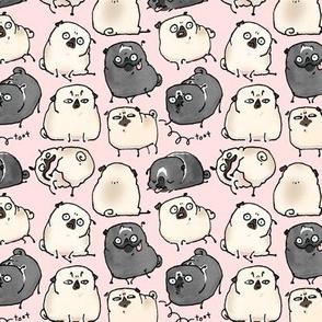 Pug Poses - light pink