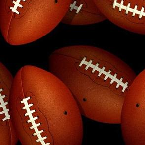 Endless footballs fall sports pattern - Large
