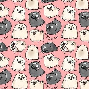 Pug Poses - dark pink