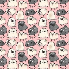 Pug Poses - bubblegum