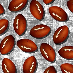 Footballs gray white grunge texture w white accent pattern fall sports