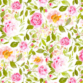farmhouse floral bright large scale