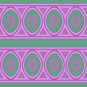 Pink and Green Frieze