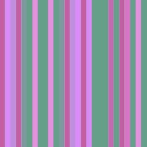 Pink, Green, and Purple Stripes