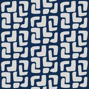 Bohemian little boxes: Gray on Blue