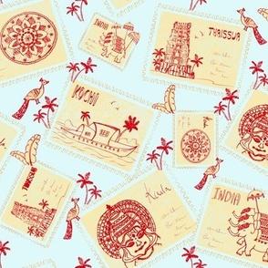 Retro postcards - South of India