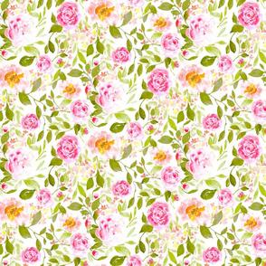 farmhouse floral bright medium scale
