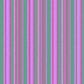 Pink Violet and Green Stripes