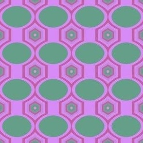 Green Ovals and Pink Hexagons
