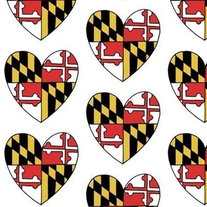 Maryland Flag Hearts
