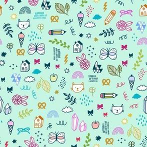 kids doodle time - mint