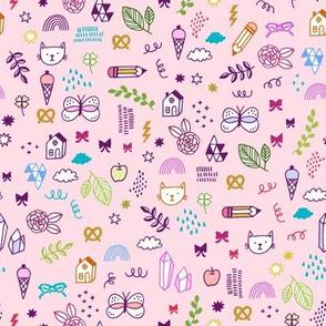 kids doodle time - pink