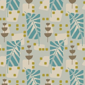 spotted fern - blue