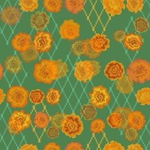 Retro Nepalese Marigolds
