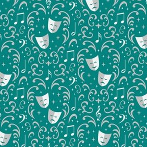 Theater Damask (Teal)