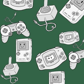 Greyscale Video Games on Green