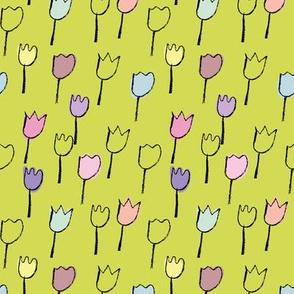 tulips doodle by rysunki_malunki