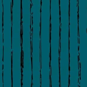 Raw vertical Inky stripes minimal Scandinavian style trend abstract print ocean green