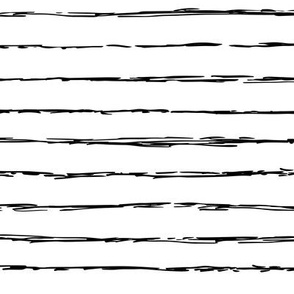 Raw horizontal Inky stripes minimal Scandinavian style trend abstract print black and white monochrome