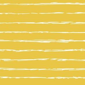 Raw horizontal Inky stripes minimal Scandinavian style trend abstract print summer ochre yellow