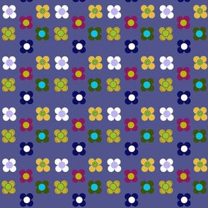 Blue flowers mat by Kaorina