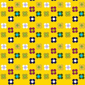 gold flowers mat by Kaorina