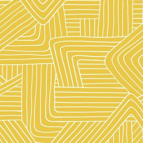 Little Maze stripes minimal Scandinavian grid style trend abstract geometric print summer ochre yellow