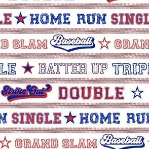 Baseball Sayings Stripes Red Blue