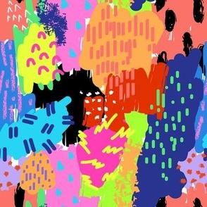 90's Neon Abstract Summer Splash