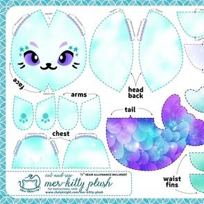 Cut & Sew Galaxy Mer-Kitty Plush Teal