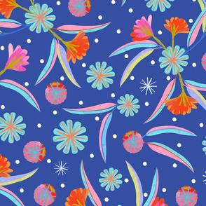 Gum Blossom - Dark Blue - Dark blue