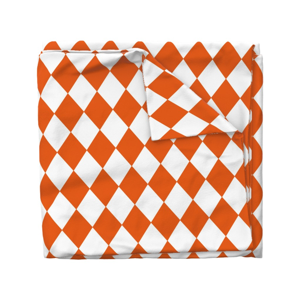 Wyandotte Duvet Cover featuring Orange Soda Modern Diamond Pattern by paper_and_frill