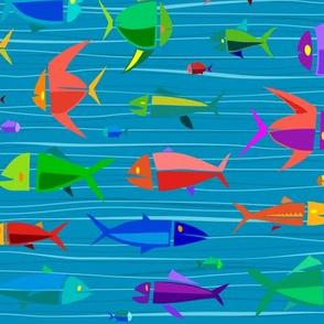 Common Fish 18in big wavy dark
