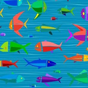Common Fish 18in wavy dark