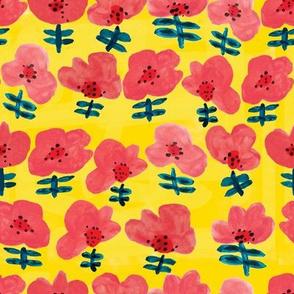 Flowie - lemon and lipstick pink