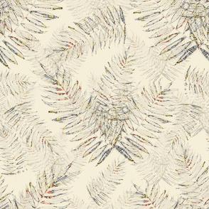 Debs Ferns on Off White Background