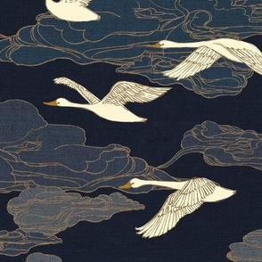 The Wild Swans {Midnight} - large scale
