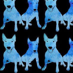 Blue Bullies (on black)