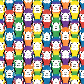 Alpaca pride - all rainbow